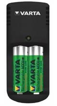 Chargeurs minis pour 2 piles accus rechargeables Varta