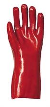 Gants PVC rouge synthétique enduit - Protection chimique