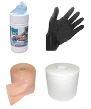 Kit bobines ouate, lingettes, gants