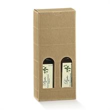 Valisettes boites 2 bouteilles de vin - fenêtres